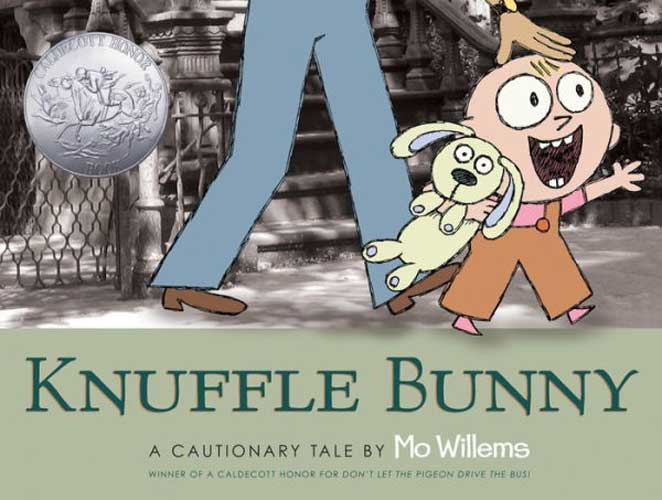 Knuffle Bunny by Mo Willems - great book for 1st grade