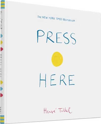 Press Here by Herve Tullet - grade 1 reluctant reader